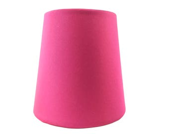 Fuchsia pink silk mini lampshade chandelier sconce handmade home decor lamp shade