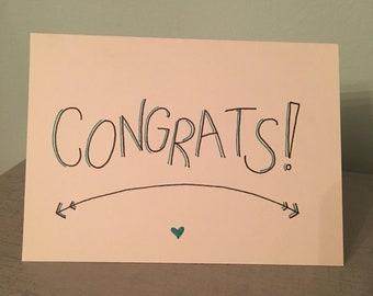 Hand Drawn Congrats Card