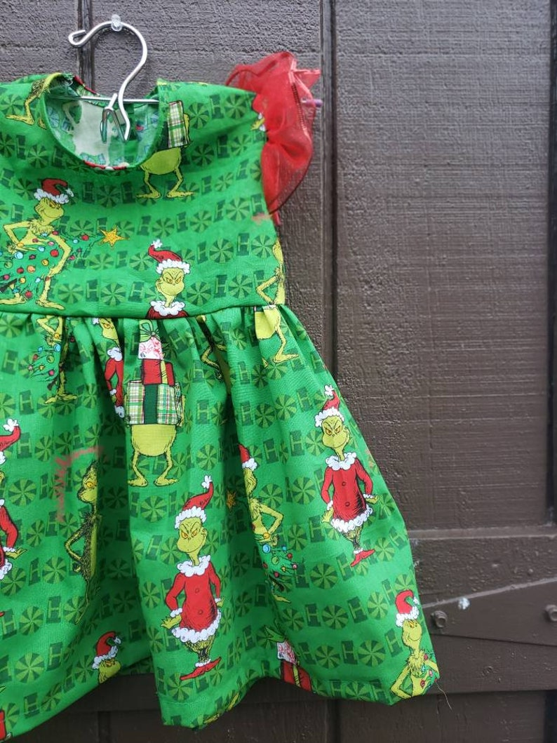 Girl/'s The Grinch Dress