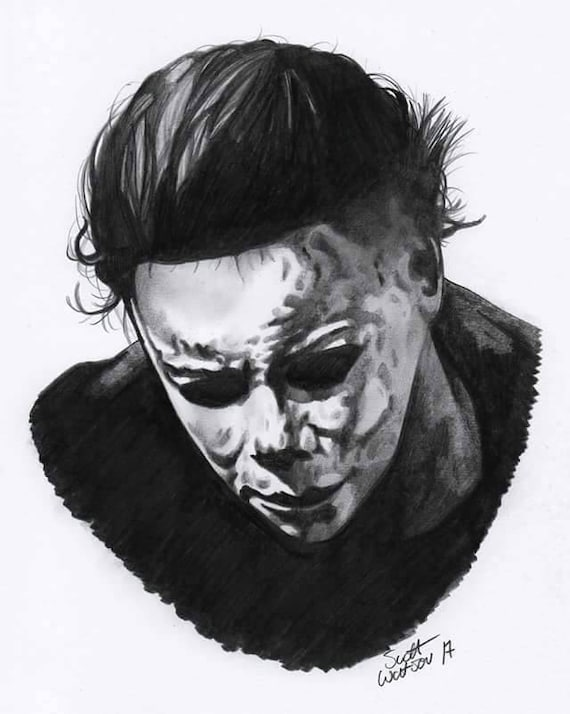 Michael Myers A4 Pencil Drawing
