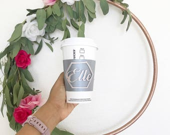 Coffee Cozy, personalized coffee cozy, coffee cup sleeve, coffee sleeve, cup warmer, cup cuff, personalized cup sleeve, reusable cup cozy