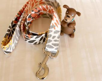 """Dog Leash, Orange White Dog Leash, 1"""" Dog Leash,Dog Lead, Any Length Dog Leash, Pet Leash, Custom Dog Leash, Gifts for Pets, Jesse Leash"""