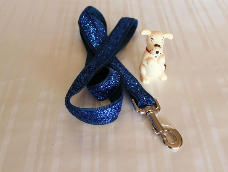 Cute dog Leash Small Dog Leash,1 Dog Leash Dog Leash Blue Glitter Leash Fabric Leash Custom Dog Leash Pet Leash Dog Lead Dog Leash