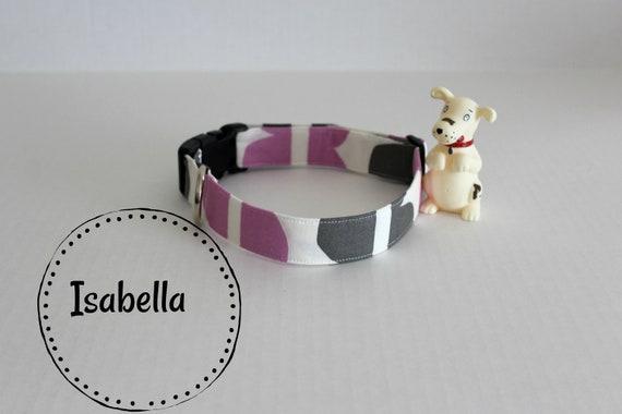 Collier pour chien, collier de chien Floral violet, tendance colliers de chien, animal de compagnie collier, collier personnalisé pour chien, collier de chien réglable, cadeaux pour les animaux, collier Isabelle