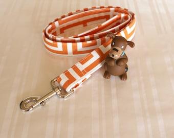 "Dog Leash, Orange White Dog Leash, Dog Leash, 1"" Dog Leash, Handmade Dog Leash, Dog Lead, Any Length Dog Leash, Pet Leash, Custom Dog Leash"
