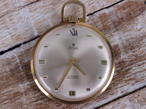 Pocket watch STOWA, Antique vintage pocket watch,