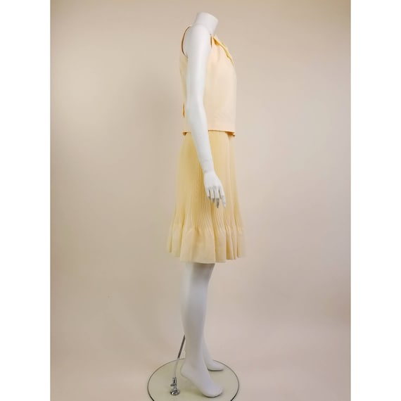 50s MORLOVE The Couturier Blouse peachy/light ora… - image 2