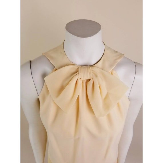 50s MORLOVE The Couturier Blouse peachy/light ora… - image 6