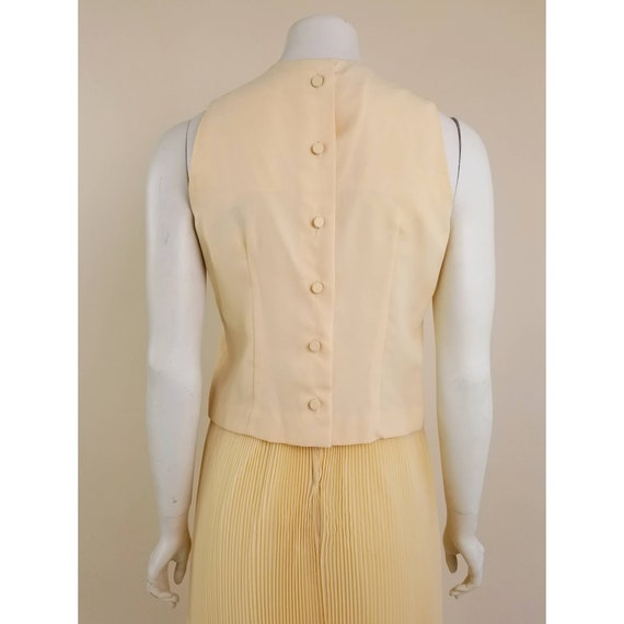 50s MORLOVE The Couturier Blouse peachy/light ora… - image 5