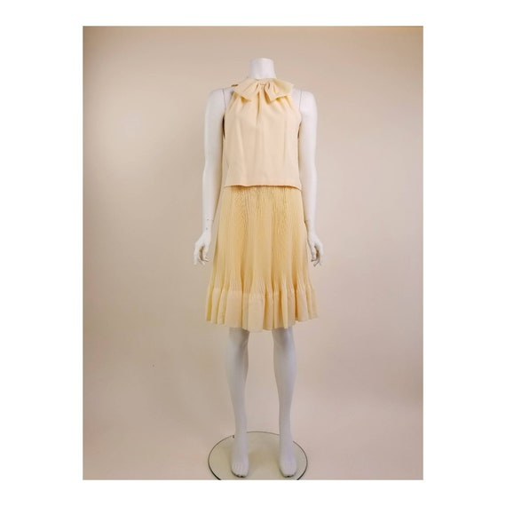 50s MORLOVE The Couturier Blouse peachy/light ora… - image 1