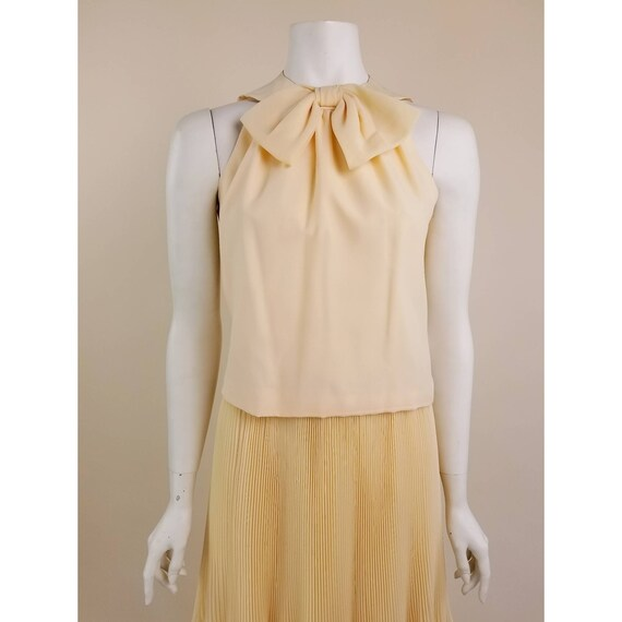 50s MORLOVE The Couturier Blouse peachy/light ora… - image 4