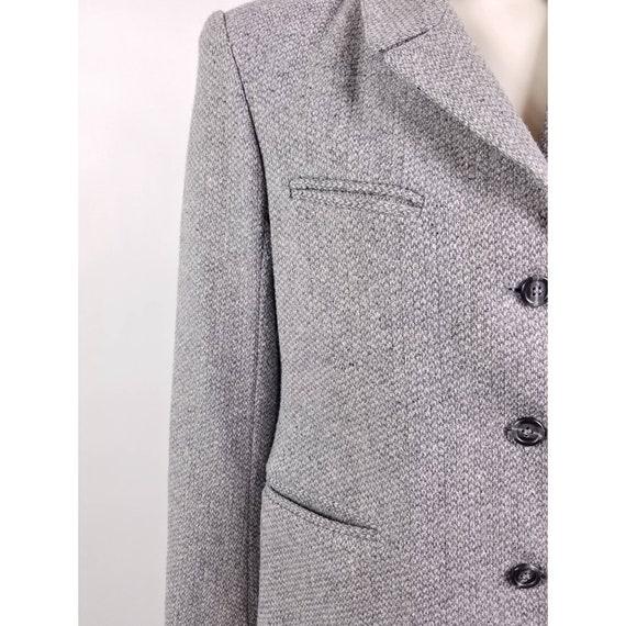 80s N'est-ce Pas grey woven wool tweed blazer jac… - image 5