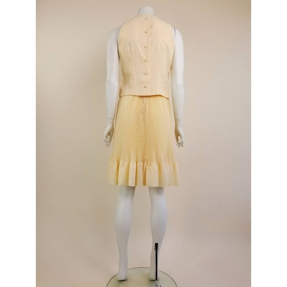 50s MORLOVE The Couturier Blouse peachy/light ora… - image 3