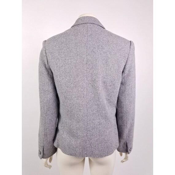 80s N'est-ce Pas grey woven wool tweed blazer jac… - image 3