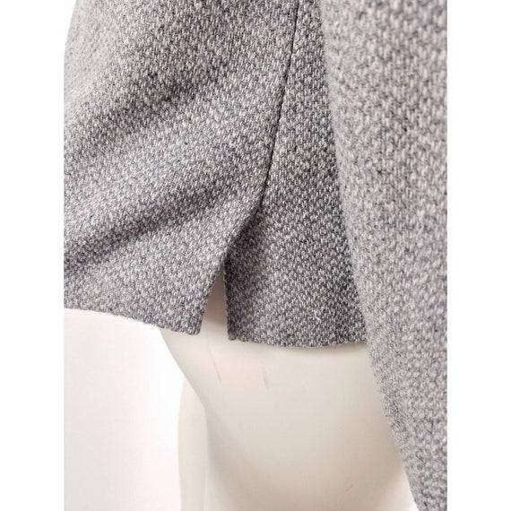 80s N'est-ce Pas grey woven wool tweed blazer jac… - image 7