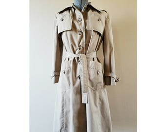 70's Vintage The Jack Set khaki trench coat with detachable hood