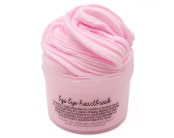 Bye Bye Heartbreak, Therapy Dough, Anxiety Relief, Aromatherapy Pink Butter Slime, Heartbreak Gift for Her Him, Slime Shops, Slime Fantasies