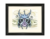 Beetle Wings Insect Art Print Nature Scarab