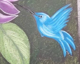 Romans 15:13//Original scripture painting//Floral Christian art//Humming bird art/ custom Religious gifts//Love joy peace art