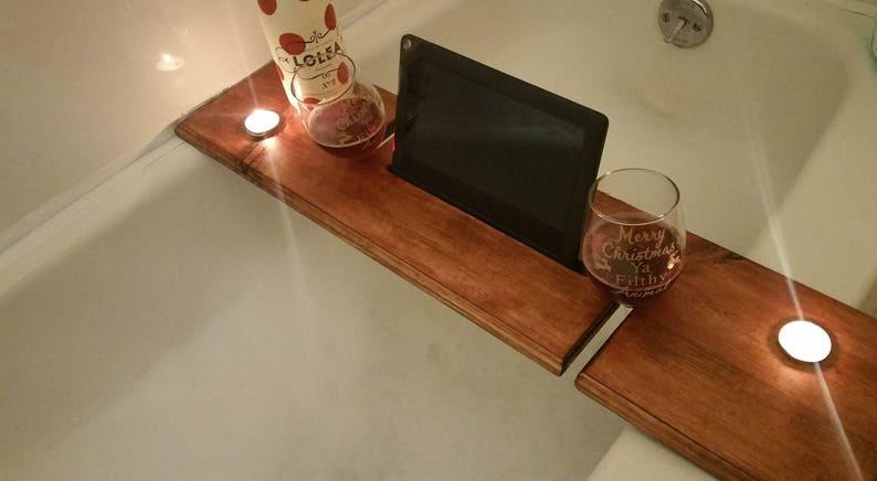 Vassoio Vasca Da Bagno : Vasca da bagno caddy bordo vasca per 2 vassoio da bagno in etsy