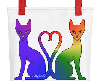 Double Rainbow Autisticat Tote bag