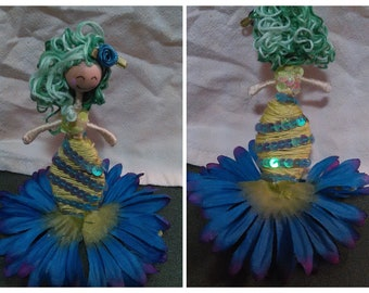 Mermaid Flower Fairy Doll