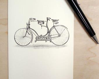 Blank Card Tandem Bicycle