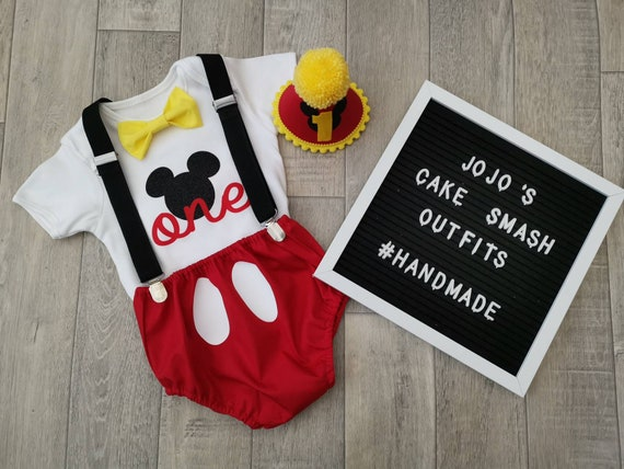 Baby Boys 1st Birthday Cake Smash Outfit// Prop Grey//yellow  Braces.handmade.