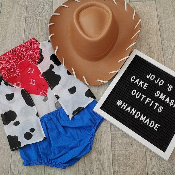 foto Prop hecho A Mano Gris//Amarillo Bebé Niños 1st Cumpleaños Pastel Smash Outfit