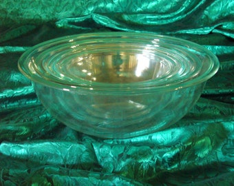 Pyrex Clear Glass Mixing Bowls, Clear Glass Mixing Bowl Set, Set of 4 Pyrex Mixing Bowls