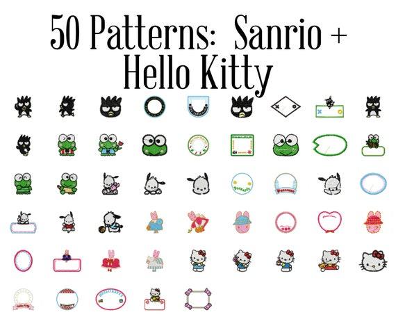 Hello Kitty Sanrio Machine Embroidery Patterns Hello Kitty Etsy
