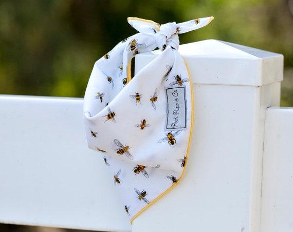 Beatrice Bandana, Busy Bee Dog Bandana, Bumble Bee Dog Bandana