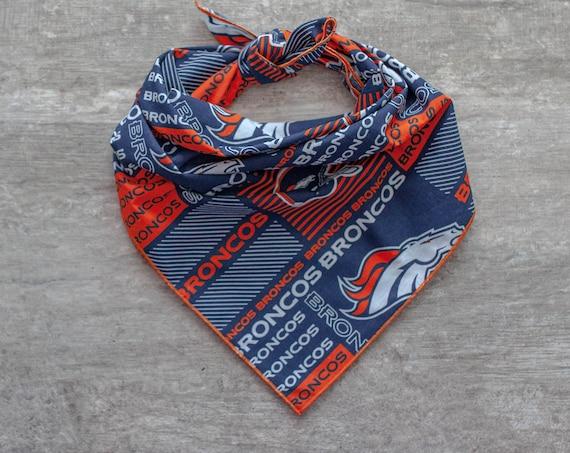 Denver Broncos Bandana, NFL Dog Bandana