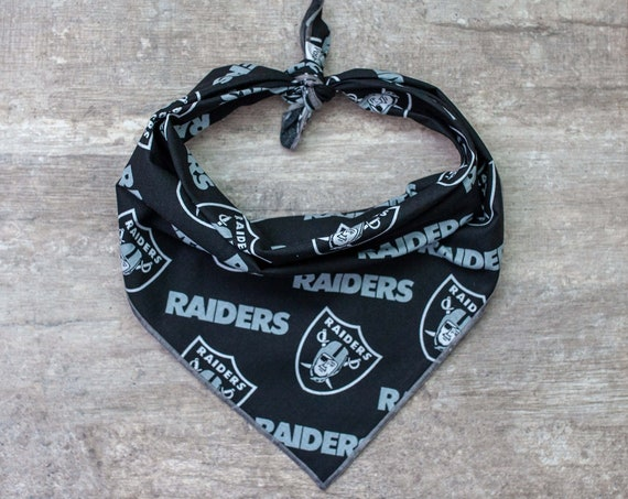 Las Vegas Raiders Dog Bandana, NFL Dog Bandana