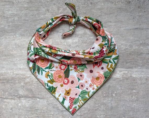 Claire Dog Bandana, Floral Dog Bandana