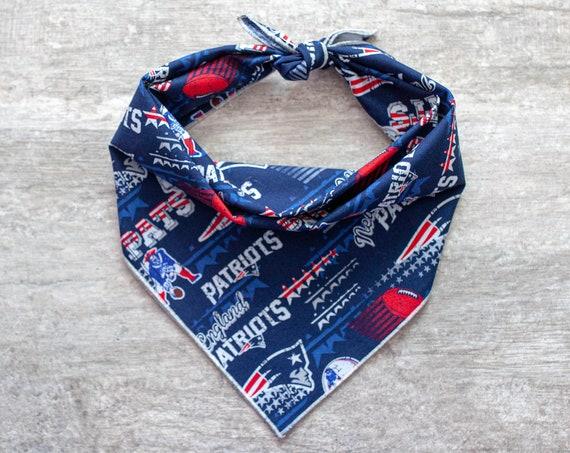 New England Patriots Bandana, NFL Dog Bandana