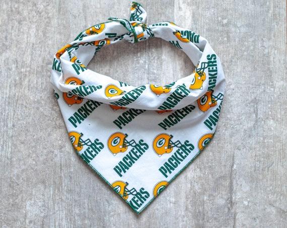 Green Bay Packers Dog Bandana, NFL Dog Bandana