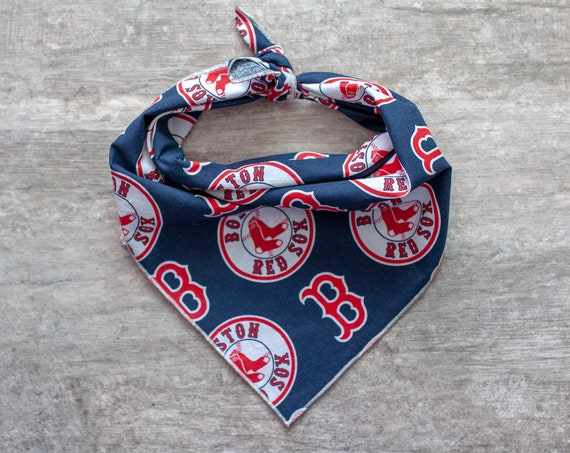 Boston Red Sox Bandana, MLB Dog Bandana