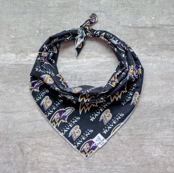 Baltimore Ravens Dog Bandana, NFL Dog Bandana