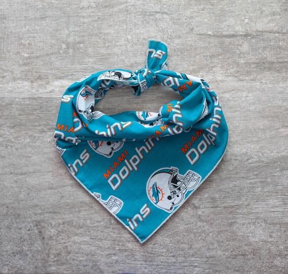 Miami Dolphins Bandana, NFL Dog Bandana