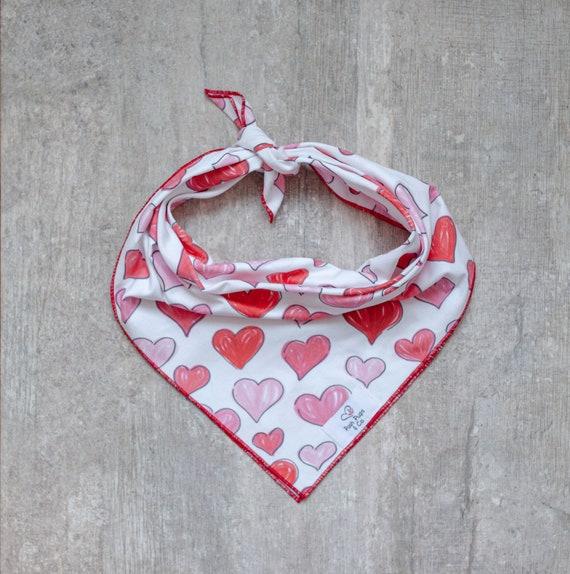Lucy Bandana, Valentine's Day Dog Bandana