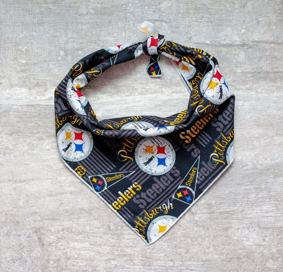 Pittsburgh Steelers Dog Bandana, NFL Dog Bandana