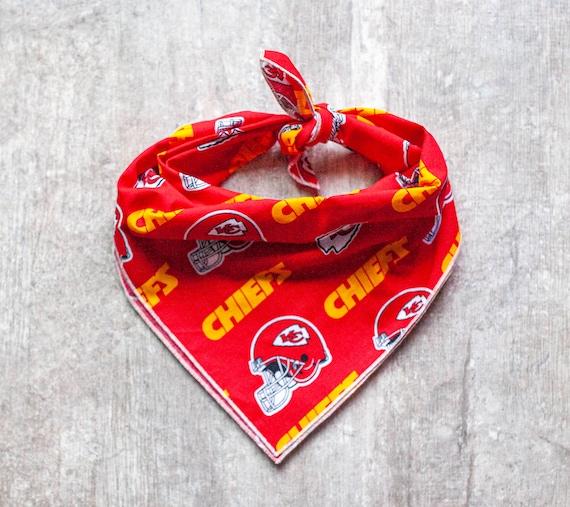 Kansas City Chiefs Bandana, NFL Dog Bandana, Tie on Dog Bandana