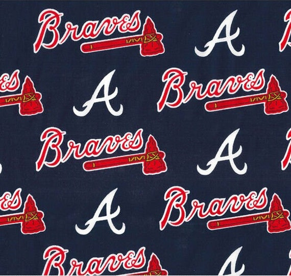 Atlanta Braves Bandana, MLB Dog Bandana (Fabric will arrive on Oct 26th and your order will be shipped the same day)
