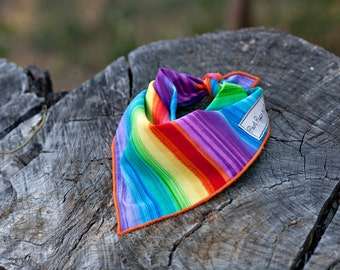 Rainbow of Love Dog Bandana,  Rainbow Dog Bandana