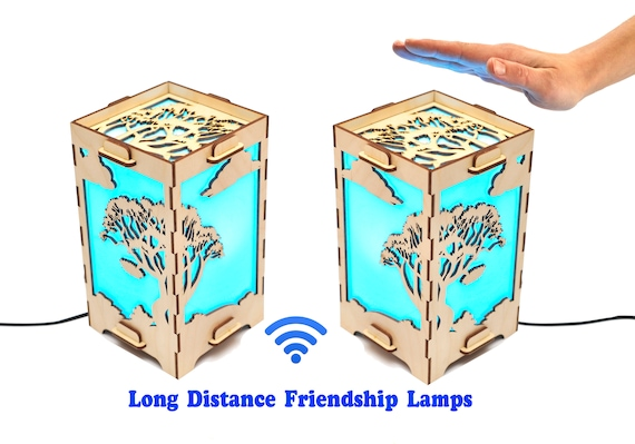 Set Of Two Wifi Connected Friendship Lamps Long Distance Lamp Etsy
