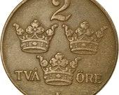 coin, sweden, gustaf v, 2 Öre, 1941, ef(40-45), bronze, km 778