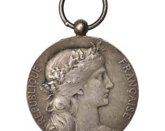 france ministère de l'intérieur employés communaux medal 1921 very good