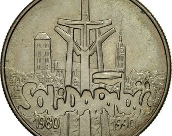 coin poland 10000 zlotych 1990 warsaw au(55-58) copper-nickel km195