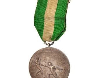 france sélestat escrime medal 1911 very good quality silver 33